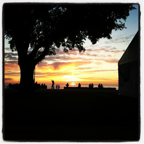 Solnedgång i Almedalen